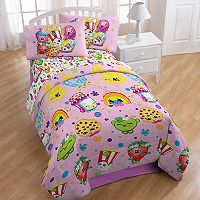 Moose Toys Shopkins Party 4-piece Twin Bed In A Bag Set