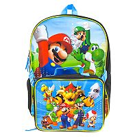 Kids Mario Party Backpack & Lunch Box Set