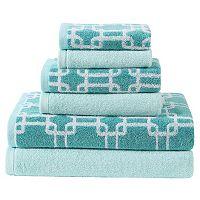 Clairebella 6-piece Links Bath Towel Set