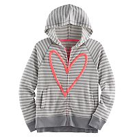 Girls 7-16 & Plus Size SO® Puff-Print Perfect Zip-Up Hoodie