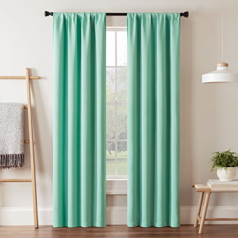 eclipse Darrell Thermaweave Window Curtain, Green thumbnail