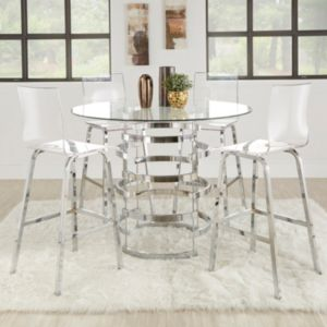 HomeVance Aralia Counter Height Dining Table & Chair 5-piece Set
