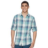 Men's Urban Pipeline® Roll-Tab Chambray Button-Down Shirt
