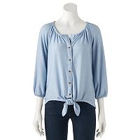 Women's French Laundry Chambray Tie-Front Top