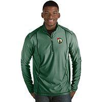 Men's Antigua Boston Celtics Tempo Quarter-Zip Pullover