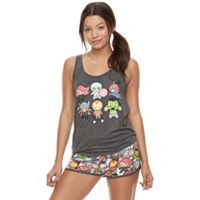 Juniors' Pajamas: Marvel Superheroes Tank & Shorts PJ Set