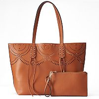 Mellow World Brooklyn Reversible Perforated Tote with Pouch