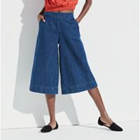 k/lab Denim Wide Leg Culottes