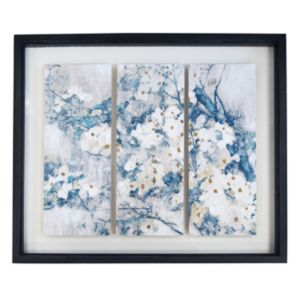 New View Farmhouse White Blossoms Shadowbox Framed Wall Art