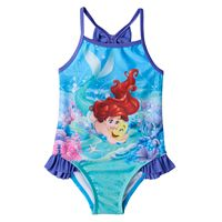 Disney's The Little Mermaid Ariel & Flounder Baby Girl Ruffle One-Piece Swimsuit