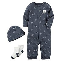 Baby Boy Carter's Dog Coverall, Hat & Socks Set