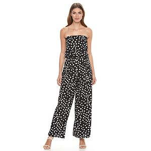 Women's MSK Polka-Dot Jumpsuit