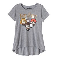 Girls 7-16 Harry Potter, Hermione Granger & Ron Weasley Group Foil Graphic Tee