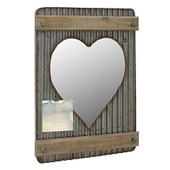 Stonebriar Collection Photo Clip Heart Wall Mirror  by