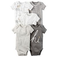 Baby Carter's 5-pk. Short Sleeve Bodysuits