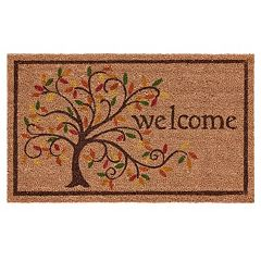 Mohawk Home Swirly Fall Tree ''Welcome'' Coir Doormat 18'' x 30''
