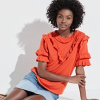 k/lab Ruffle Trim Tee