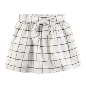 Toddler Girl Carter's Bow Front Windowpane Plaid Skirt