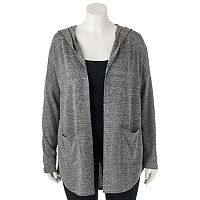 Juniors' Plus Size Mudd® Hooded Cardigan
