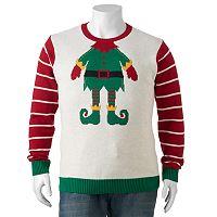Big & Tall Elf Headshot Ugly Christmas Sweater