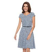 Women's Jessica Howard Geometric A-Line Dress