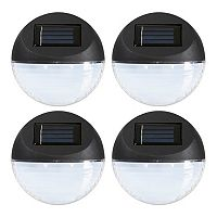 Navarro Outdoor Round Solar LED Path Light 4-piece Set
