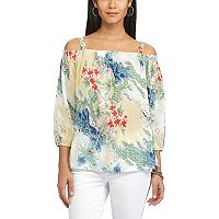 Women's Chaps Tropical Off-the-Shoulder Top