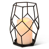Gerson Indoor / Outdoor Geometric LED Candle Table Decor