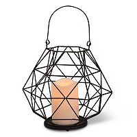 Gerson Indoor / Outdoor Geometric LED Candle Lantern