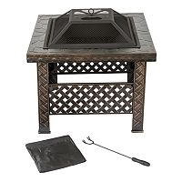 Navarro 26-in. Square Outdoor Fire Pit 4-piece Set