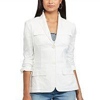 Women's Chaps Linen Blend Jacket