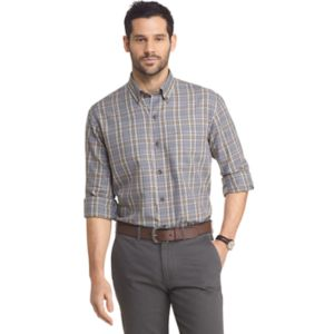 Big & Tall Arrow Heritage Regular-Fit Plaid Button-Down Shirt!