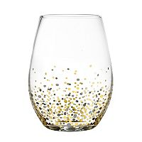 Fitz & Floyd Confetti 4-pc. Stemless Wine Glass Set