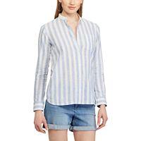 Women's Chaps Striped Linen Blend Shirt