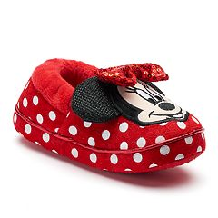 Disney Minnie Mouse Toddler Girls' Slippers by