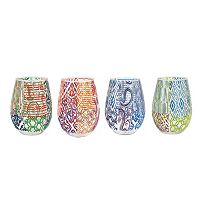 Fitz & Floyd 4-pc. Stemless Wine Glass Set