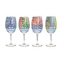 Fitz & Floyd 4-pc. Wine Goblet Set