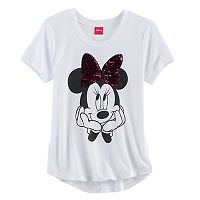 Disney's Minnie Mouse Girls 7-16 Two-Way Sequin Bow Tee