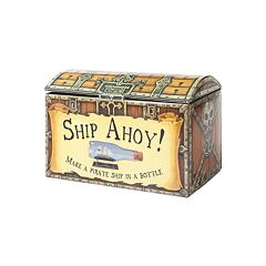 House of Marbles Ship Ahoy! Pirate Ship in a Bottle Kit by