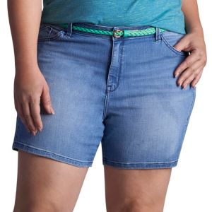 Plus Size Lee Twila Modern Series Belted Jean Shorts