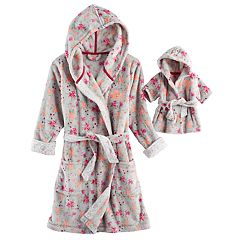Girls 5-14 American Girl Cozy Hooded Robe & Doll Robe Set