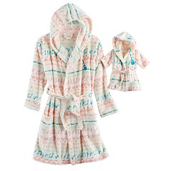 Girls 5-14 American Girl Cozy Hooded Robe & Doll Robe Set
