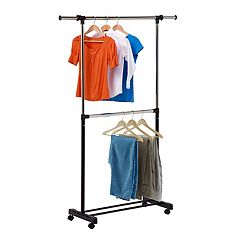 Honey-Can-Do Adjustable 2-Rod Garment Rack by