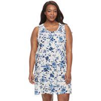 Plus Size Croft & Barrow® Pajamas: Vineyard Villa Sleeveless Nightgown