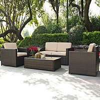 Crosley Furniture Palm Harbor Patio Loveseat & Arm Chair 3-piece Set