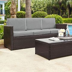 Crosley Furniture Palm Harbor Patio Sofa by