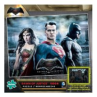Batman v Superman: Dawn of Justice 1000-pc. Batman, Superman & Wonder Woman Glow-in-the-Dark Jigsaw Puzzle by Buffalo Games