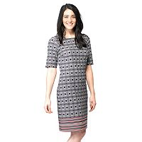 Women's ILE New York Geometric Shift Dress
