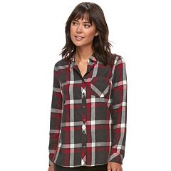 Women's SONOMA Goods for Life Essential Plaid Flannel Shirt by