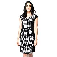 Women's ILE New York Check Sheath Dress